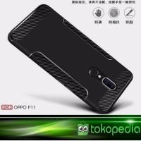 Case Oppo F11 Premium Case Fiber Carbon Softcase