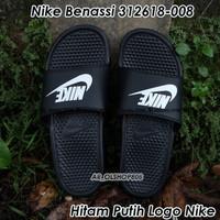 Sandal Nike Benassi ORIGINAL Sendal Nike Hitam Putih Nike Benassi 01
