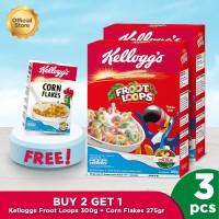 Kellogg's Froot Loops 300g (2pcs) + Free Corn Flakes 275gr [NBP]