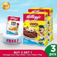 Kellogg's Coco Pops 400gr (2pcs) + Free Corn Flakes 275gr