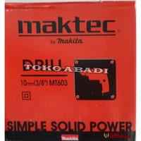 Mesin Bor 10 mm Drill Maktec MT603 garansi 2 tahun service center
