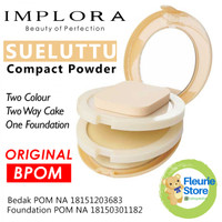 Implora SUELUTTU Powder Cake - 2 Bedak 1 Foundation - Original BPOM
