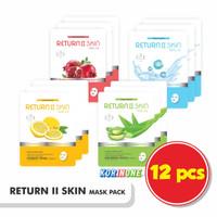 Harga promo 12 sachet return ii skin masker wajah alami made in | antitipu.com