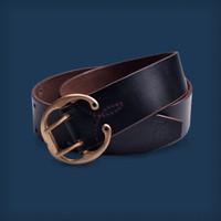 Horseshoe Belt - 9/10 Oz Black Horween Chromexcel