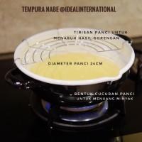 TEMPURA NABE Panci Masak goreng dengan tatak - Sisa export