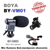 BOYA BY-VM01 Condenser Mic For DSLR Microphone Camcorder Profesional