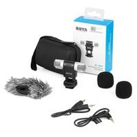 BOYA BY-MM3 Mic Boya Microphon Dual Head Stereo Condenser Shotgun VLOG