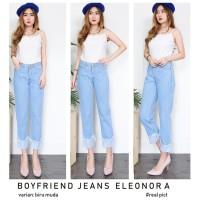 Celana Jeans Celana Jeans Wanita Boyfriend Eleonora, Model Lipat Bawah