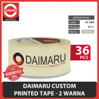 [Pre-Order] Daimaru Custom Printed 2 Warna 48 mm x 80 Yard - Isi 36 Pc