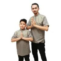 Baju koko couple anak ayah batik songket - Anak Navy, M