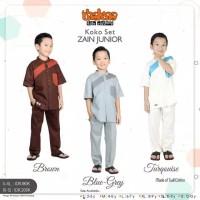 Baju Koko Anak Lengan Pendek Ori Thaluna Koko Set Zain Junior S-XL