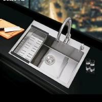 paket kitchen sink bolzano 6045kran sink tempat sabun push JOSS