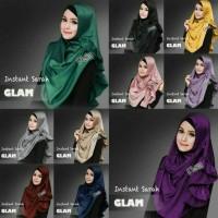 Jilbab Kerudung Pashmina Instan Satin Velvet untuk PESTA Sarah Glam