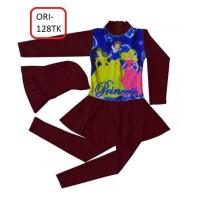 Baju Renang Anak Muslim Karakter Princess Size Tk Warna Kuning - 128Tk