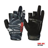 Sarung tangan mancing | Glove half cut finger firecast