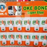Lem Super Glue - OKE BOND - harga per lusin