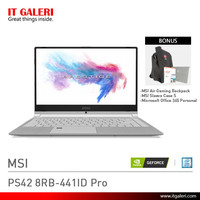 Laptop Gaming MSI PS42 8RB-441ID Pro Murah