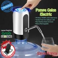 Water Pump Electric charge Pompa Galon Air Minum Elektrik Led cas lamp