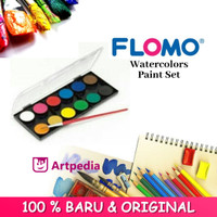Flomo Watercolour Paint Set 12 with Brushes / watercolor paint