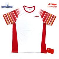 Kaos Badminton Lining Sudirman Cup Player Series Tim Indonesia White