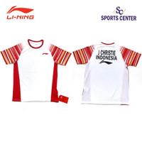 Kaos Badminton Lining PLAYER Sudirman Cup Jonatan CHRISTIE White