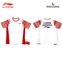 Kaos Badminton Lining PLAYER Sudirman Cup Anthony S.GINTING White