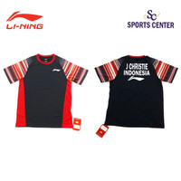 Kaos Badminton Lining PLAYER Sudirman Cup Jonatan CHRISTIE Black