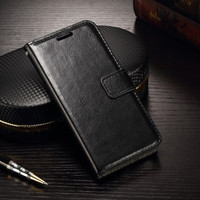 Samsung a10 flip wallet leather