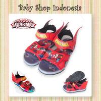 Sepatu Sandal Anak Lampu LED Murah Sepatu Sandal Anak Spiderman Merah