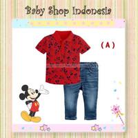 Setelan Kaos Anak Murah Baju Kerah Anak Import Murah Mickey Mouse Red
