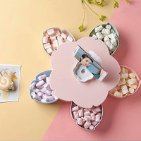 [PINK] FLOWER ROTARY CANDY BOX / Toples Putar Bentuk Bunga + Stand HP