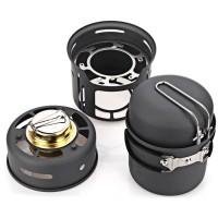 Kompor Gas Alocs 7 in 1 plus alat masak untuk Camping - CW-C01
