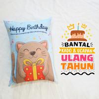Bantal Kado & Hadiah Ulang Tahun 30x40cm - Ready - NO PO