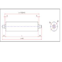 Steel Gravity Roller D34 W450