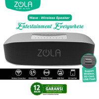 ZOLA Wave Bluetooth Speaker Portable Support Memory Card Supreme Sound