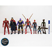 Action Figure Captain Marvel Avengers End Game Set isi 7