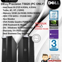 DELL Precision T5820 MT Xeon W-2125/32GB/1TB + 512GB/VGA 5GB/WIN10PRO