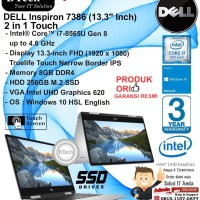 DELL Inspiron 7386 2 in 1 Intel Core i7-8565U/16GB/256GB/WIN10HSL/1YR