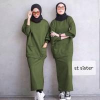 setelan terbaru sister 4 warna