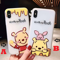 Soft Case Printing Winnie The Pooh Iphobe X 5G 5S 6G 6S 7+ 8+ OPPO A3S