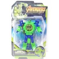 Jam Tangan Anak Digital Hero Watch Robot Avengers Hulk HW