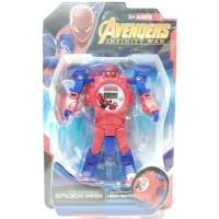 Jam Tangan Anak Digital Hero Watch Robot Avengers Spiderman HW