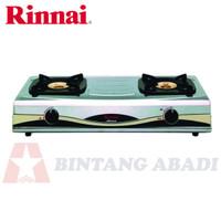 Rinnai Kompor Gas Elpiji LPG 2 Tungku Stainless Steel - RI-522A