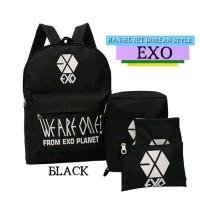Tas Ransel Backpack Wanita EXO Set ST Korean Style