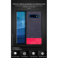 YZ Samsung S10 / S10 Plus - Fabric Denim Style Back Cover Case