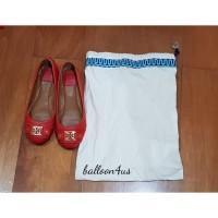 Preloved Sepatu Flat Clines Ballet Merah Tory Burch