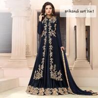 SET SRIKANDI BORDIR/BAJU INDIA/GAMIS INDIA/SARI INDIA/DRESS INDIA
