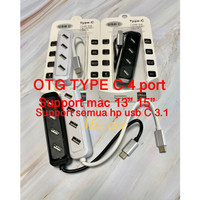 Otg type c usb 3.1 hub 4 port USB 2.0 Hub for Macbook Tablet Laptop