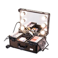 Sonia Miller Beauty Makeup Case Koper Cosmetic Box Lampu 6 LED + feet thumbnail