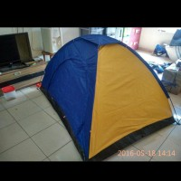 Tenda dome single layer 3 orang